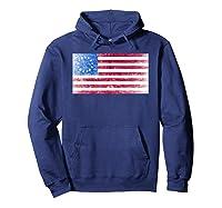 B Ross Flag Of Usa Weathered Shirts Hoodie Navy