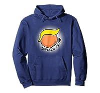 Impeach Donald Trump Funny Bad Hair Peach Face T Shirt Hoodie Navy
