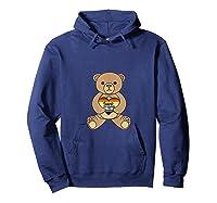 Bear Brotherhood Love You Cuddly Bear Holding A Love Heart Shirts Hoodie Navy