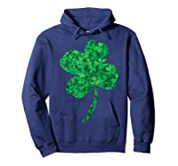 Shamrock Saint Patrick's Day Shirts Hoodie Navy