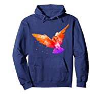 Flying Owl In Low Poly Style T Shirt Design Hoodie Navy