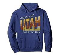 City Of Utah Shirt Salt Lake City Vintage State Gift T Shirt Hoodie Navy