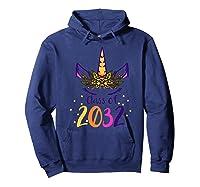 Unicorn Face Class Of 2032 First Day Kindergarten Girls Gift Shirts Hoodie Navy