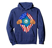 South Dakota Roots Inside State Flag American Proud Shirts Hoodie Navy