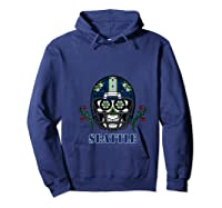 Seattle Football Helmet Sugar Skull Day Of The Dead T Shirt Hoodie Navy