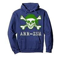 Funny Arrish Sugar Skull St Saint Patricks Day Shirts Gift Hoodie Navy