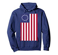 Patriotic 1776 American Betsy Ross Flag T-shirt Hoodie Navy