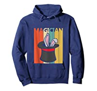 Magic Trick Rabbit Out Of A Hat Shirt Magician Gift Tank Top Hoodie Navy