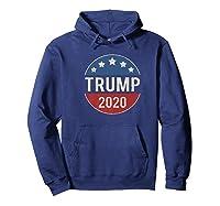Donald Trump 2020 Retro Button Vintage Patriotic July 4th Shirts Hoodie Navy
