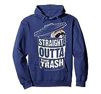 Straight Outta The Trash | Cool Trash Panda Gift T-shirt Hoodie Navy