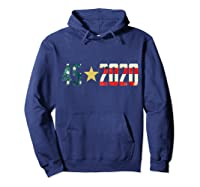 452020 Donald Trump America Re Election T Shirt Gift Hoodie Navy