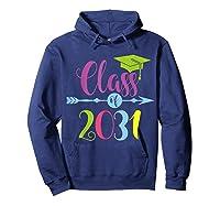 Class Of 2031 Grow With Me Kindergarten Graduate Gift T-shirt Hoodie Navy