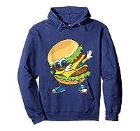 Cool Dabbing Burger Funny Street Dancer Hamburger Lover Gift Tank Top Shirts Hoodie Navy