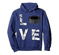 Love Hockey Puck Funny Sports Valentine S Day T Shirt Hoodie Navy