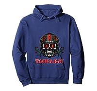 Tampa Bay Football Helmet Sugar Skull Day Of The Dead T Shirt Hoodie Navy