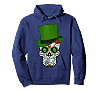 Sugar Skull St Patrick S Day T Shirt Saint Patty S Day Gift Hoodie Navy