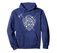 Dragons Dnd Fighter Dungeons Icon Art Tabletop Birthday Gift Shirts Hoodie Navy
