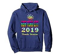 New York City Family Vacation 2019 Spiral Sun Rainbow T Shirt Hoodie Navy