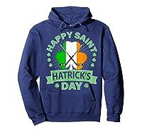 St Patrick S Day Hockey T Shirt Irish Saint Hatrick S Day 01 Hoodie Navy