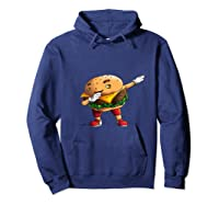 Cool Dabbing Burger Funny Street Dancer Hamburger Lover Gift T Shirt Hoodie Navy
