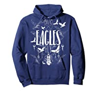 Fly Eagles Fly Funny Sport And Wildlife Animal Back Print Shirts Hoodie Navy