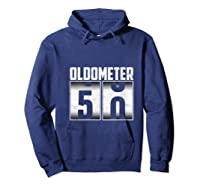 Oldometer 50 50th Birthday 50 Years Old Gifts Shirts Hoodie Navy