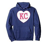 Pink Kansas City Light Pink Cool Vintage Heart Shirts Hoodie Navy