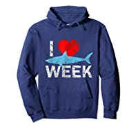 I Wait All Year For This Week T-shirt Funny Shark Tee Hoodie Navy