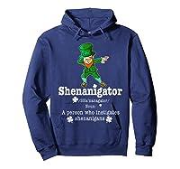Saint Paddy S Dabbing Shenanigator St Patrick S Day T Shirt Hoodie Navy