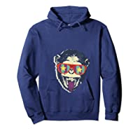 Crazy Monkey Chimp Funny And Vintage Music Love Shirts Hoodie Navy