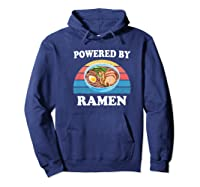 Powered By Ra Funny Retro Ra Noodles Gift Shirts Hoodie Navy