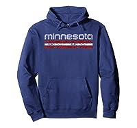 Minnesota Retro T Shirt Vintage Weathered Hoodie Navy