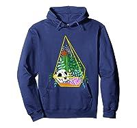 Pastel Goth Geometric Terrarium Skull, Crystals & Succulents Shirts Hoodie Navy