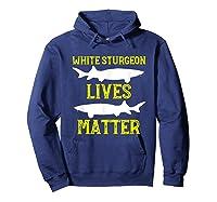 Sturgeon Fishing Shirt Fish T-shirt Gift Hoodie Navy