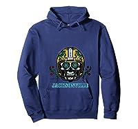Jacksonville Football Helmet Sugar Skull Day Of The Dead T Shirt Hoodie Navy