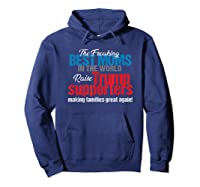 Funny Trump 2020 Best Moms Raise Trump Supporters Election T Shirt Hoodie Navy