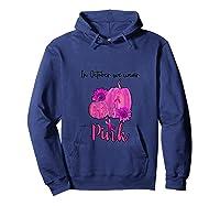 In October We Wear Pink Pumpkin Breast Cancer Halloween Shirts Hoodie Navy