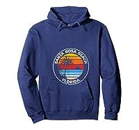 Vintage Santa Rosa Beach Florida Souvenir Beach T-shirt Hoodie Navy