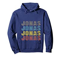 Jonas First Given Name Pride Funny T Shirt Hoodie Navy