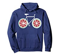 Fixie Single Speed Watermelon Bicycle T Shirt Gift Hoodie Navy