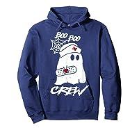 Boo Boo Crew Nurse Ghost Funny Halloween Costume Gift T-shirt Hoodie Navy