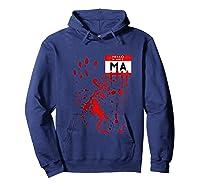 Hello My Name Is Ma Funny Halloween Scary Horror Raglan Baseball Ts Shirts Hoodie Navy