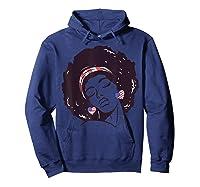 Black Girl Us Flag Melanin Afro 4th Of July African American T-shirt Hoodie Navy