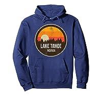 Vintage Retro Lake Tahoe Nevada Shirts Hoodie Navy
