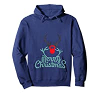 Merry Xmas Antlers Kettlebell Weightlifting Ness Workout Shirts Hoodie Navy