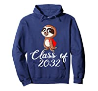Sloth Class Of 2032 Back To School Gift Shirts Hoodie Navy