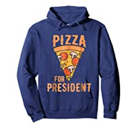 Impeach Trump Pizza For President Pizza Lovers T Shirt Hoodie Navy