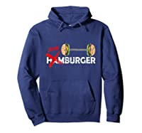 Funny Burger Tshirt Retro Hamburger Food Grill Meat Gift Tee Hoodie Navy