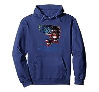 Bass Fishing Usa 4th Of July American Flag Baseball Shirts Hoodie Navy
