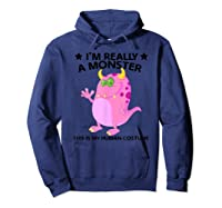 This Is My Human Costume Im Really A Monster Shirts Hoodie Navy